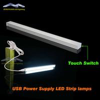lamp supplies - 4W LED V Touch Switch USB Power Supply LED Strip Tube LED Night Soft Light Eye care Lamp