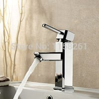 Wholesale NEW bathroom basin Chrome Polished Sink Mixer Tap Faucet bathroom water tap bath mixer banheiro torneira WF