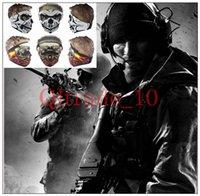 Wholesale New Bike Motorcycle Scarves CS Ski Sport mask Face Ghost mask Skull Multi Bandana Mask intball LJJH1045