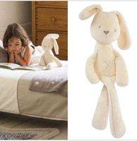 achat en gros de plush rabbit toy-54 * 11cm mignon bébé Enfants Animaux blancs Mamas & Papas Lapin sommeil doux Comfort Doll Peluche