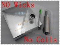 e cig wicks - 2015 newest Technology no wicks no coil ceramic heating chamber wax oil vaporizer hunter e cig ego mod atomizer for mod Mech mod tank