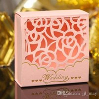 Wholesale Laser Cut Wedding Favor Boxes Wedding Candy Box Casamento Wedding Favors And Gifts Event Party Supplies
