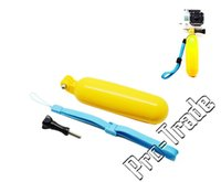 Wholesale Yellow Diving Surfing Buoyancy Rods Floating Bobber Stick Screws Blue Lanyard for For Gopro Hero HD Sports Camera