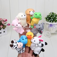 Wholesale New Hot Sale Animal Finger Puppet Finger toy finger doll baby dolls Chirstmas Gifts EMS