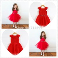 age dress - 2016 New Girl Party Dress Rose Kids Girl Princess Dress Age Child Wedding Birthday Clothing