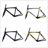 Wholesale RB28 multi full carbon fiber c road bike frame and fork EN quality cycling frame white red white matt glossy color bicycle parts
