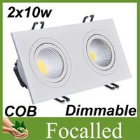 Wholesale CSA UL CE Approve Fixture Led Ceiling Light w w lm white shell Cob Led Downlight Led Lamp warm cold white k v angle