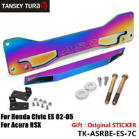 Wholesale Tansky ASR Aluminum Neochrome Rear Suspension Subframe Brace Lower Tie Bar For Honda Civic Acura RSX Si EP3 ES DC5 TK ASRBE ES C