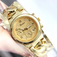 auto glass retail - New Comming Fashion Women Watches Geneva Brand Steel Alloy with CALENDAR Dress Gift Wrist Watch_wholesale retail