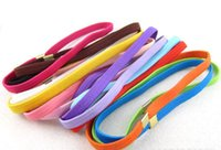 Wholesale 60pcs new candy color Hair Bands Girl BABY KID DIY Hair Bands Rubber Band steel buckle Party Accessories headgear hair accessories