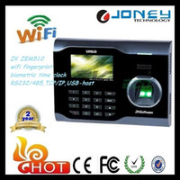 Wholesale ZK ZEM510 inches TFT screen wifi fingerprint biometric time clock with SDK U160
