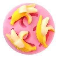 banana fruit cake - 3D Fruit Banana Silicone Fondant Cake Molds Soap Chocolate Mould For Baby Shower And Wedding Kitchen Bakeware Cake Tool