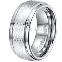 Wholesale NEW Pure Silver Polished Tungsten Carbide Wedding Band Ring Xmas Gift Mens MM Size FREE SHIP
