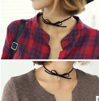 big bow necklace - NEW Women Fashion Bow chain necklace Necklace collar collar For Big Girl Necklace collar Chokers Women Neck Necklace B1B64