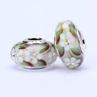 animal beads - 10pcs Pandora Style charm faceted murano glass beads loose beads thread bead Diy loose beads jewelry T7