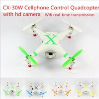 Cheap CX-30W RC Quadrocopter remote-control Helicopter with Cellphone(Android and IOS) camera gyroscope toy WIFI transmission drones