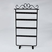 Wholesale 48 Holes Earrings Necklace Ear Studs Jewelry Display Rack Metal Stand Organizer Holder Self Display Shelf X60 JJ0311 s1