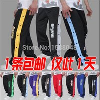 Wholesale open buckle pants playing basketball warm up pants basketball pants buckle pants male sports trouserscasual trousers