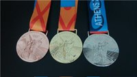 antique medals - Athens Olympic Medals Gold Sliver Bronze High Quality Collection Medals DHL Free