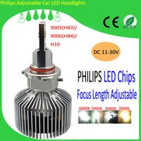 Wholesale 2015 Top Brightness K Car LED Headlight Bulbs with Fan and Driver PhilipsMZ Focal Length Adjustable