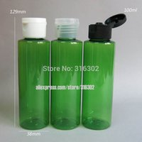 Wholesale x ml DIY Green Pet Bottle With Flip Top Cap ml Green Plastic Cream Bottle ml Green Bottle