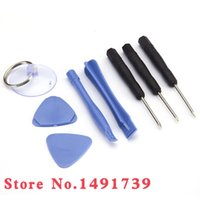 Wholesale 8 in1 Opening Pry Tools Screwdriver Repair Moble Cell Phone Disassemble Unlock Kit Set for iPhone GS S S C iPod Tablet