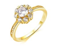 Wholesale 2015 Luxurious K gold ring shiny zircon plated High end fashion jewelry Women Rings Cheap Price Best Gifts freeshipping