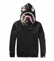 Cheap APE shark Dongkuan plus balaclavas camouflage shirt printing Tide brand adolescents Hoodie Men Black Red Grey