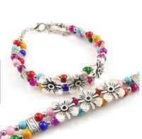 Lien pour perles France-2016 fabricants de vente de bijoux bracelet perle avec le style populaire Link Chain alliage bracelets