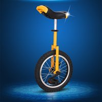 Wholesale DHL free Unicycle Inch One Wheel Bicycle Bike Cycling Outdoor Extreme Sports Bike Unicycle For Kids Adult Color A4