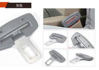 Wholesale High Quality ABS colors available Car Seat Belt Extender Safety Eliminator Alarm Stopper Buckle Insert Clips