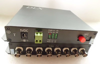 Wholesale 8channels video channel reverse RS485 fiber optical transmitter and receiver chs PTZ camera to fiber converter