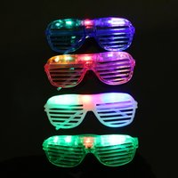 Wholesale Blinking LED Shutter Eye glasses Party Light Up Flashing Novelty Gift LED Flashing Light Up Glasses Halloween toy Christmas Party supply