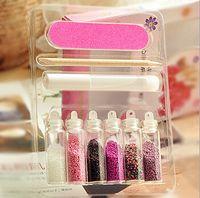 Wholesale 6 Color Glitter Decor Nail Art Powder Dust Bottle Acrylic Powder Set