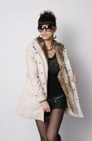 Wholesale 2015 hotsale winter women s fur coats winter warm long coat clothes