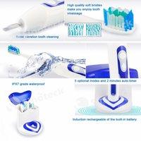 Wholesale A12 Electric Toothbrush UV Sanitizing Battery Indicator Vibration Pulsation Brushing Modes Minutes Auto Timer Free DHL