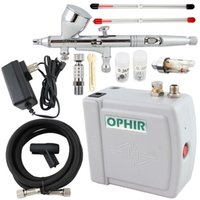 air makeup system - OPHIR Airbrush Cosmetic Makeup System Mini Air Compressor mm mm mm Airbrush Kit for Nail Art Body Paint Cake Decorating