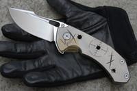 MG Tyrant Flipper arandelas de cojinete de bolas de cuchillo N690 cuchilla Agujeros de bala agujero de titanio único táctico de camping EDC herramienta