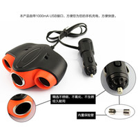 Wholesale Holesale High Quality Way Car Cigarette Lighter Socket Splitter Charger Power Adapter V With USB port MM