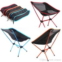 Wholesale Outdoor Folding Chair Portable Chair Folding Seat Stool For Fishing Camping Hiking Gardening Beach Fishing Picnic BBQ with Bag