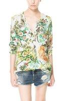 european style fashion for women - 2014 New Arrival European Style Ladies Shirt Fashion Floral Printed Shirt For Women