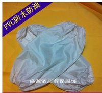 Wholesale Labor clean red and white PVC sleeves increase the waterproof and oil proof acid resistant