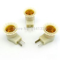 Wholesale set E27 Lamp Bases To AC Power V V Bulb Socket Adapter Converter On OFF Switch US Plug