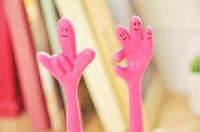 Wholesale 6 lovely ballpoint pen Kawaii fingers modelling ballpoint pen soft pen gift Office school stationery