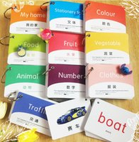 Wholesale 10 Books set New Chinese Mandarin Characters Booklet Cards In English Chinese Learning Chinese Language For Kids And Baby
