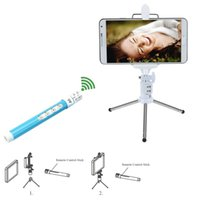 Wholesale Dispho Multifunctional Selfie Monopod Extendable Wireless Bluetooth Remote Control with Mini Tripod for iPhone Samsung Sony order lt no trac
