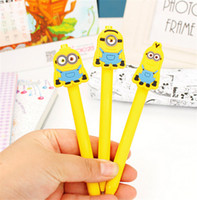 Wholesale Novelty Cartoon Writing Pen Despicable Me Sign Gel Pen Needle Bling Roller Press Pen Minion Creative Stationery Children s Study Toy K1210