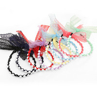 band issues - Korean ladies wind pearl straps wrapped lace ribbon bow hair bands issuing headband headband female hair accessories