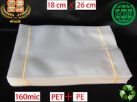 Wholesale 50 WHB x26cm mic or mil recyclable PET PE clear bags heat seal packing bags for grain and frozen foods