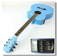 Wholesale Export electric box piano inch AG40 matte blue basswood high grade folk guitar missing angle Jita